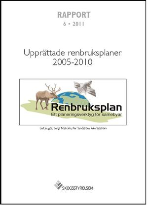 Upprättade renbruksplaner 2005-2010